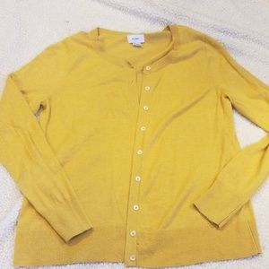 Old Navy mustard cardigan